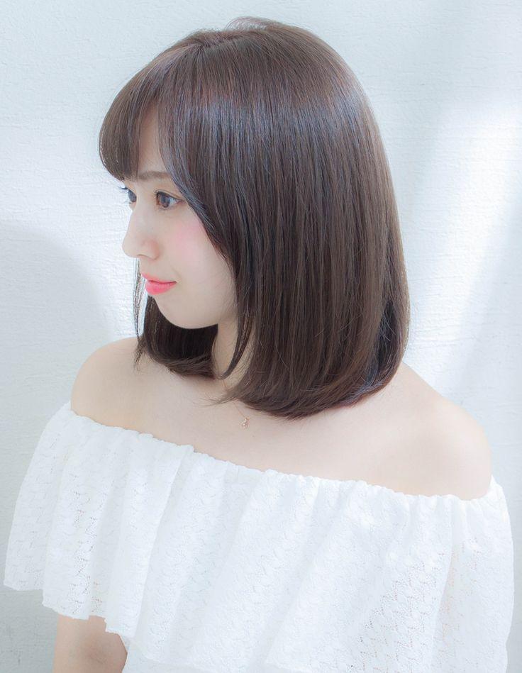 大人女子のミディアムストレート(KJ-89)   ヘアカタログ・髪型・ヘアスタイル AFLOAT(アフロート)表参道・銀座・名古屋の美容室・美容院