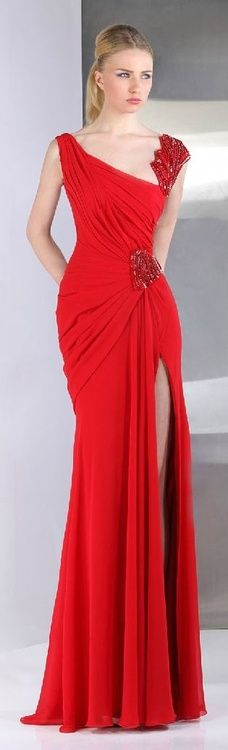 Long Red Evening Gown. Love red