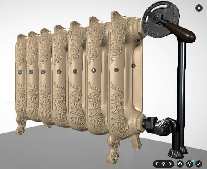 See our VR presentation of Terma Oxford cast-iron radiator http://www.termaheat.pl/pl/3dvisual or https://skfb.ly/HtqJ #design