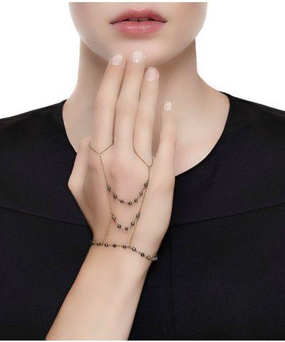 Gold Pyrite Double Ring Bracelet < Angelo di Spirito Rosa | AESTHET.COM