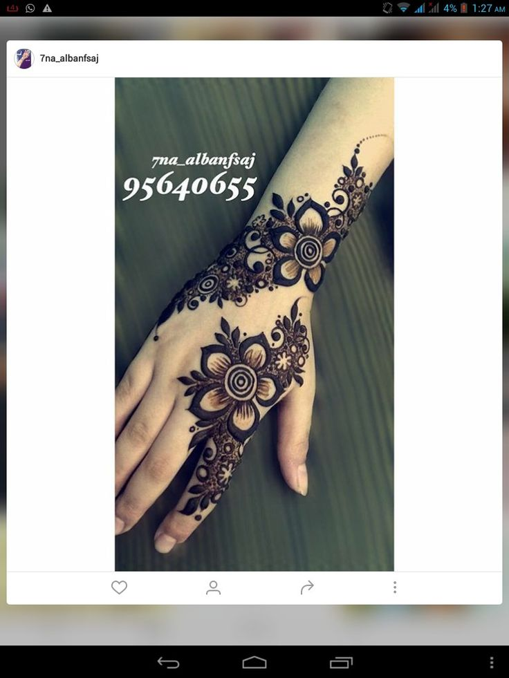 flowery henna design | mehndi on hand | eid