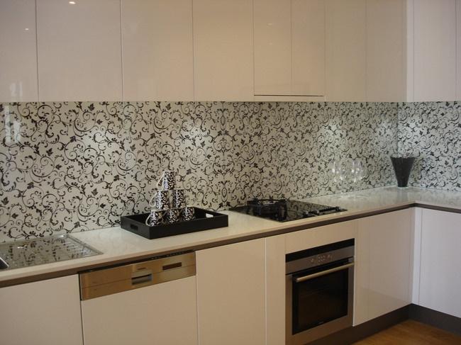 wallpaper splashback  kitchen  pinterest