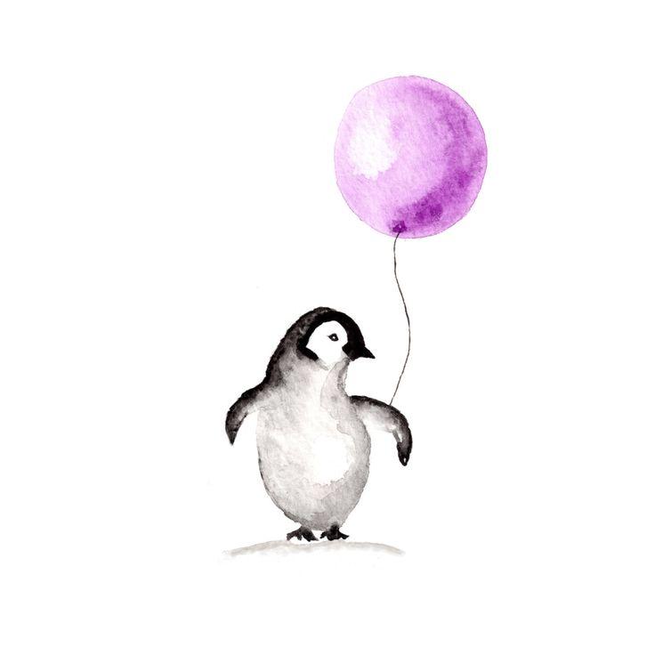 Pinguin Kunstdruck Aquarell 8 x 10 von InkandBobbin auf Etsy https://www.etsy.com/de/listing/213757164/pinguin-kunstdruck-aquarell-8-x-10