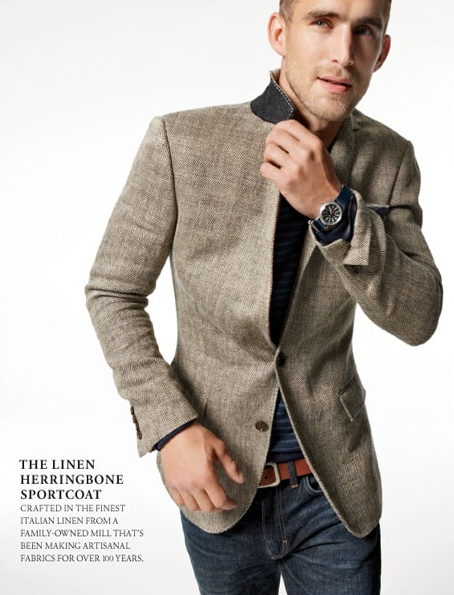 Linen Herringbone Sportcoat from J Crew