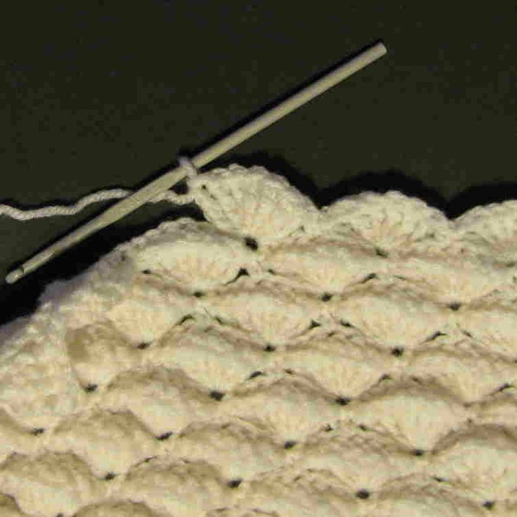 Crochet Umbrella Shells. Step by step diagram and picture tutorial.