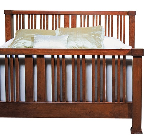 Mission crib woodworking plan woodworking projects plans for Arts and crafts bed plans