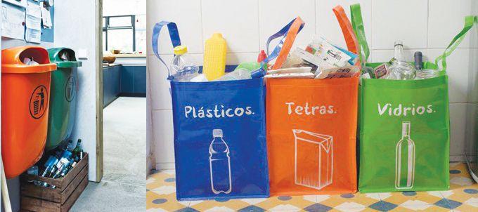 Te mostramos que no es necesario tanto espacio para dar lugar a un nuevo hábito. Separación de residuos. Mirá como organizar los cestos de basura.