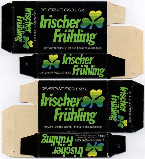 Germany - Colgate-Palmolive - Irish Spring - Irischer Fruhling - bar soap box - 1980's 1990's | Flickr - Photo Sharing!