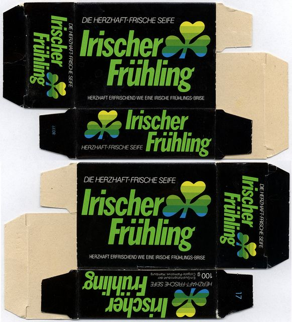 Germany - Colgate-Palmolive - Irish Spring - Irischer Fruhling - bar soap box - 1980's 1990's | Flickr - Photo Sharing!