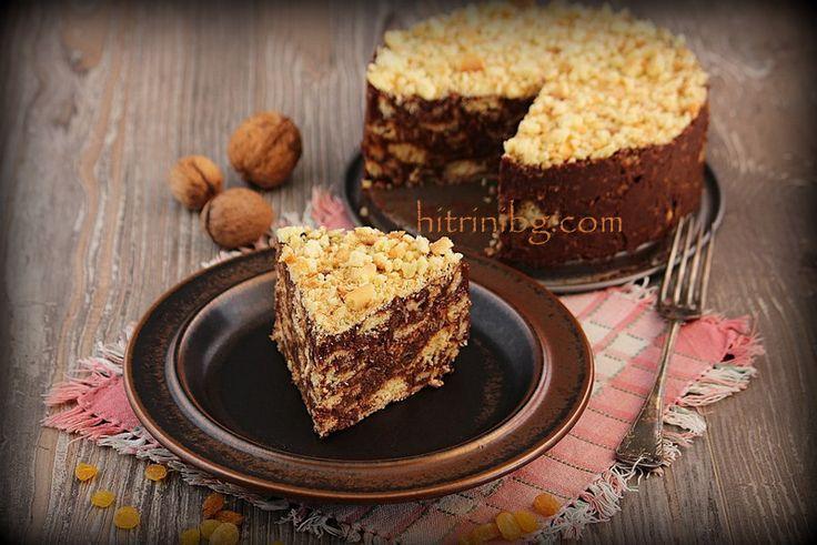 Като казвам шоколадова бисквитена торта, то тя наистина е такава. Тази лесна рецепта е за всички любители на шоколада. Приготвя се много лесно и бързо!