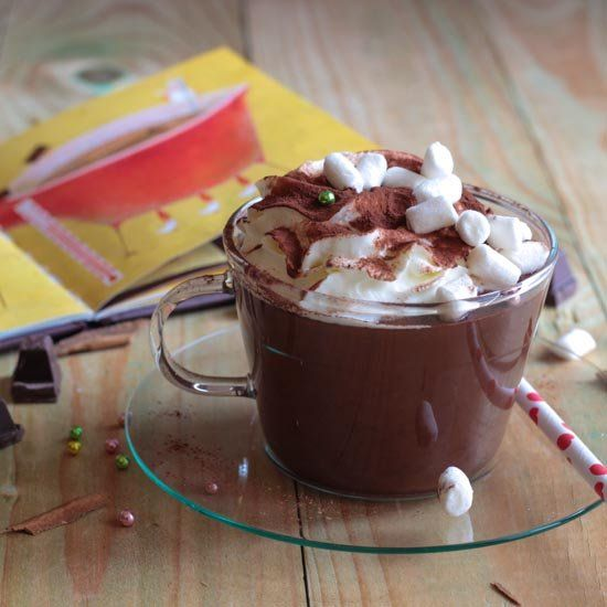 Creamy, thick and of course entirely home-made hot chocolate. (Italian ...