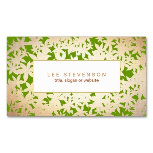 Gold Foil Look and Green Floral Pattern Business Card Templates. This great business card design is available for customization. All text style, colors, sizes can be modified to fit your needs. Just click the image to learn more!