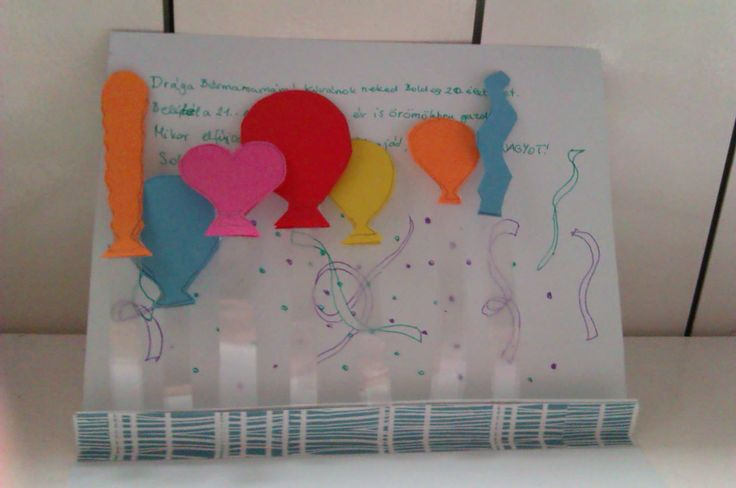 Birthday Card with popup balloons :)