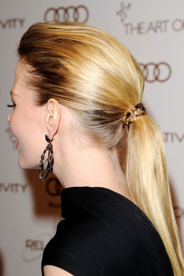 Jennifer Morrison's formal ponytail  - celebrity hair and hairstyles