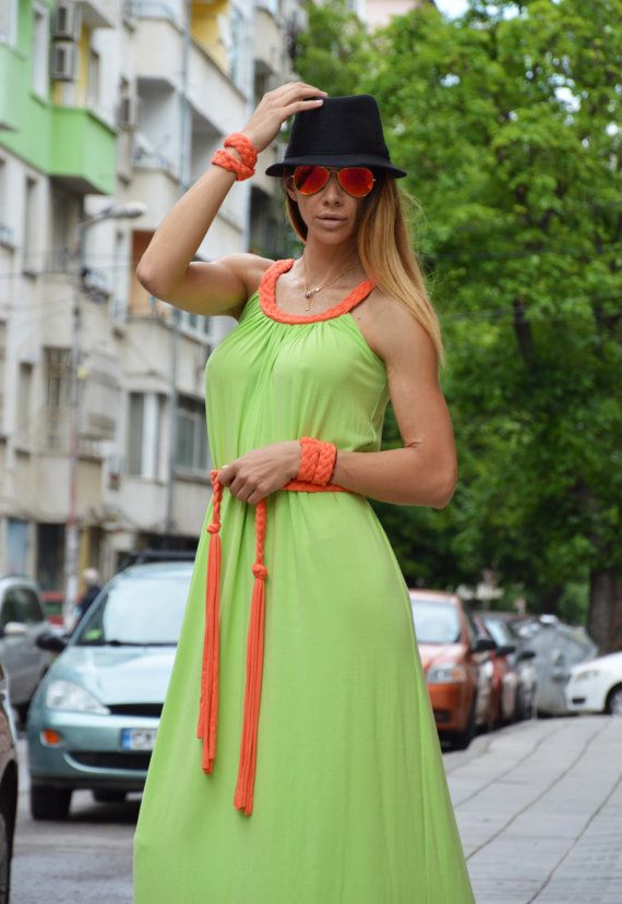 Loose Summer Maxi Dresss / Long Kaftan Dress / Loose by SSDfashion