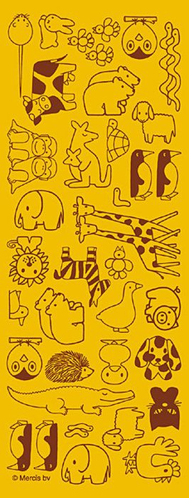 【ニュートラル】ミッフィー(ディック・ブルーナ)「どうぶつづくし・黄色」