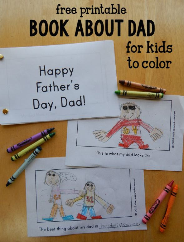 Looking for a homemade Father's day gift idea?  This book about Dad was a big hit at our house!