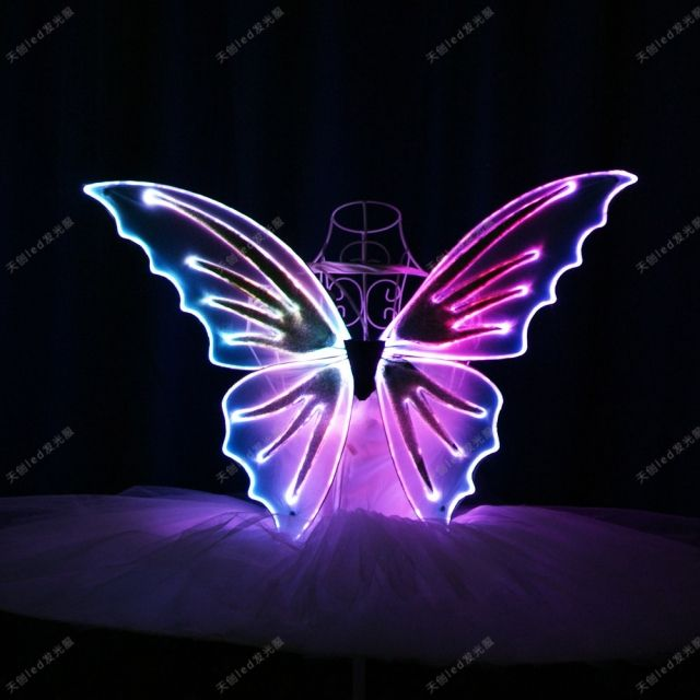 Remote Control Light Up Butterfly Wings Performance Glowing Dance Props In 2020 Butterfly Wings Fairy Wings Costume Dance Props