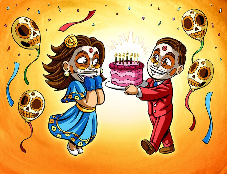 14 best day of the dead art images on pinterest day of dead sugar these cute day of the dead kids are having a birthday celebration m4hsunfo