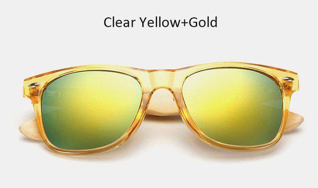 Men's/Women's Vintage Wooden Wayfarer UV Sunglasses - 16 Colors