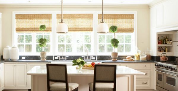 Four Modern Kitchen Window Treatment Ideas Window Treatments Bay Window Treatments And Two