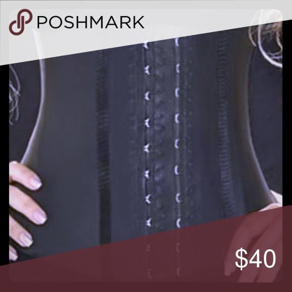Waist trainer Black latex waist shaper. Very aggressive garment. Runs true to size. If in doubt go a size up.  This garment will reduce your waist 1 -2 inches instantly. With regular use it will shape your waist and give you a hourglass figure. All new never been used. Garment might have a powder film on it. This is just the nature of the latex material. annchery Other