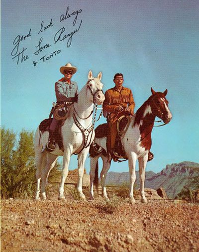 """I'm not sure what Disney is doing to the story (Johnny Depp as Tonto?), but Clayton Moore and Jay Silverheels will always be the Lone Ranger and Tonto to me. I got to meet Jay when I was a little boy in the 50's visiting Crash Corrigan's Corriganville. """"Hi-oh Silver and away!"""""""