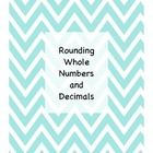 Rounding Whole Numbers and Decimals activity, Round the World game, and Rounding Decimals BINGO all rolled into one pack for you!  Also included is...