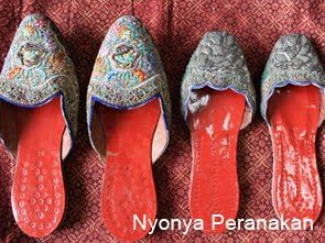 Antique Peranakan slippers.   THE LIBYAN Esther Kofod www.estherkofod.com