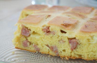 Le cake comtois à la saucisse de Morteau