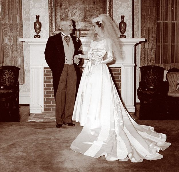 William Faulkner With His Niece Dean At Her Wedding