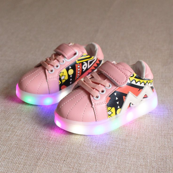 New Kids casual Shoes LED Sneakers For Girls Shoes Luminous LED Lighted Children Sneakers size 21-30 #Affiliate
