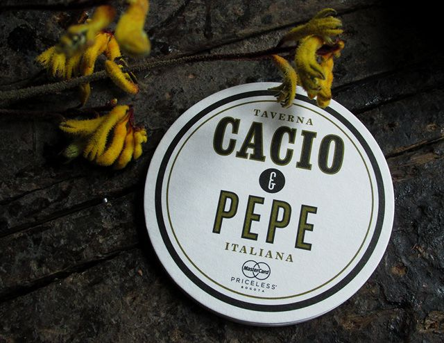 Cacio & Pepe. Portavasos. 2013