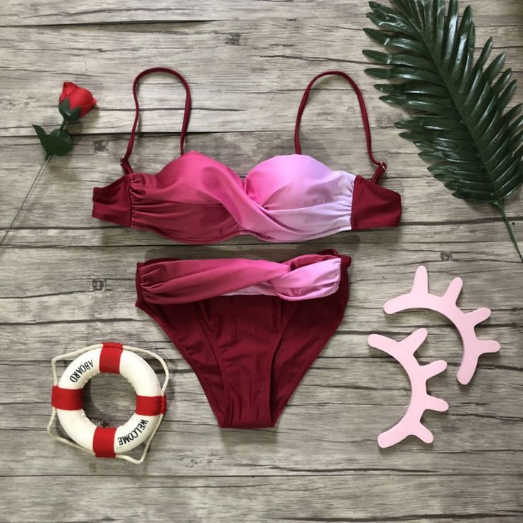 Women Sexy Print Swimwear 2019 New Female Two Piece Swimsuit Separate Female Pus…