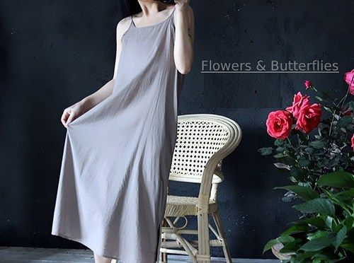 WORLDWIDE FREE SHIPPING  Women Linen and Cotton Summer Sleeveless Dress  Size: one size: Length : 110 Bust: 98   / there will be 2-4cm manual measurement error we measured in cm \          7 Colors