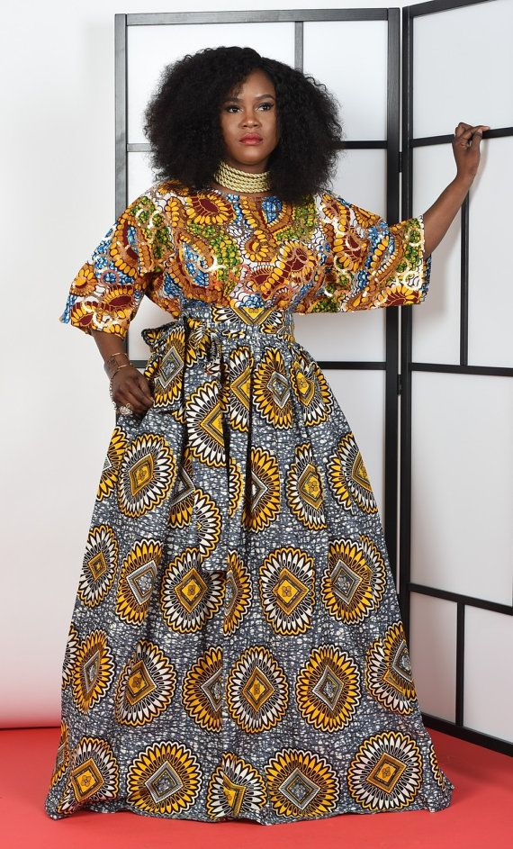Nana-buba 2 piece set by RAHYMA on Etsy. Traditional African print Blouse and…