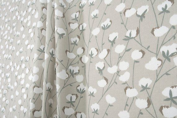 Gray Shower Curtain Fabric Shower Curtain Small Floral Clay Grey