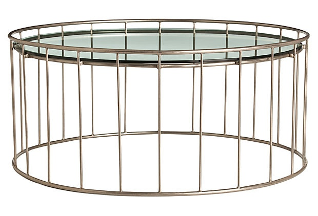 arteriors iron and glass table.
