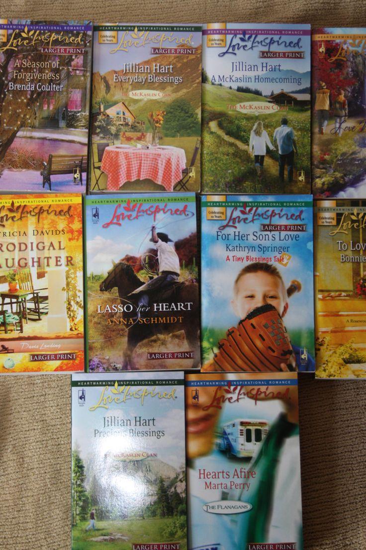 10 Love Inspired books / love inspired novels / lot 4 by TheKindLady on Etsy