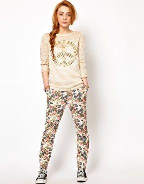 The Style - Pantaloni a fiori