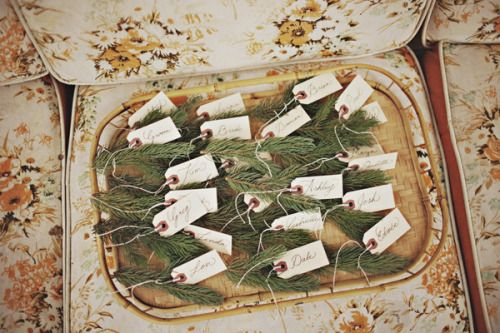 colorado vintage escort cards. brilliant idea! | Eventfully, Ash