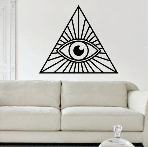 All Seeing Eye Illuminati Design Decal Sticker Wall Vinyl Decor Art