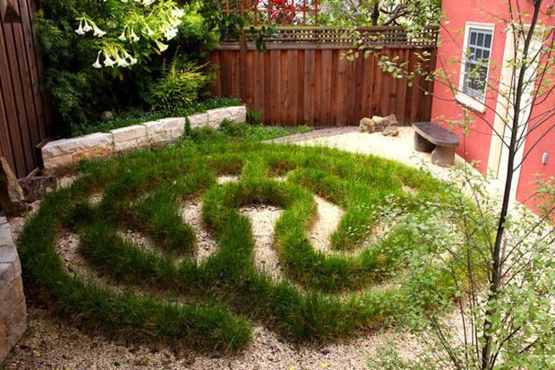 small labyrinth of drought tolerant sedge  Now I know what to do with all the liriopi in my broaders!