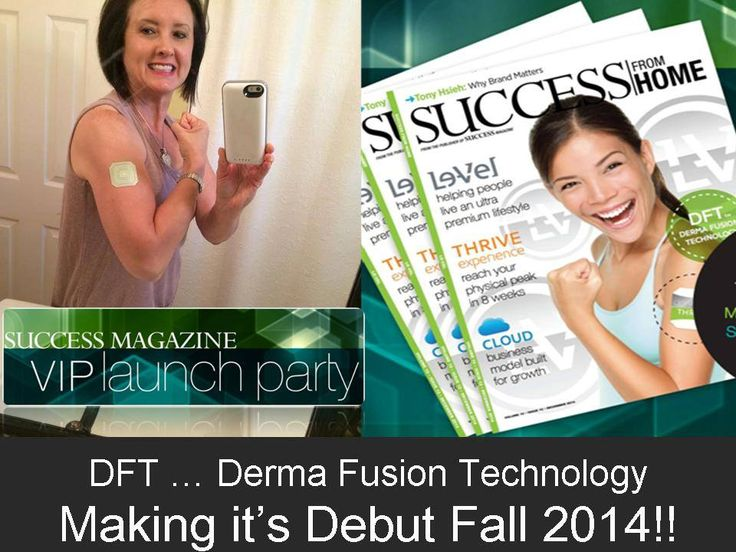 """C-E-L-E-B-R-A-T-I-N-G the most exciting launch in the wellness industry!! DFT Derma Fusion Technology making it's Debut in """"Success From Home"""" Magazine Fall 2014. DFT is the most innovative product launch in the nutrition & wellness industry in over a decade!! Come join the F-U-N! The first 100 people to register as a """"Free Customer"""" on my website over the next 5 days will get a very special """"VIP Sample Pack""""!  Let's Party....Join for Free: www.go2thrive.com"""