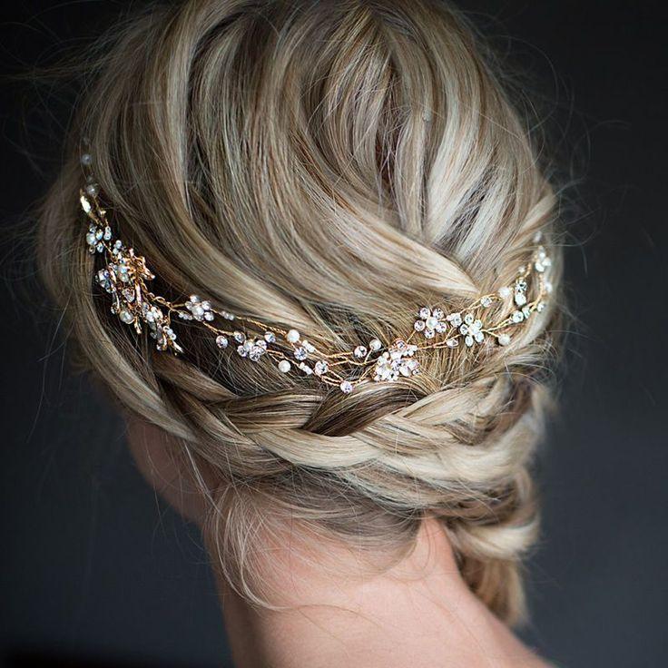 Fashion Crystal Rhinestone Wedding Hair Band Headband Satin Ribbon Bridal Tiara #Handmade #Headbands