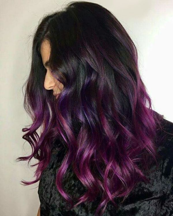 37 Balayage Hairstyles Inspiration Guide And Trends In 2020 Purple Balayage Balayage Hair Purple Purple Ombre Hair