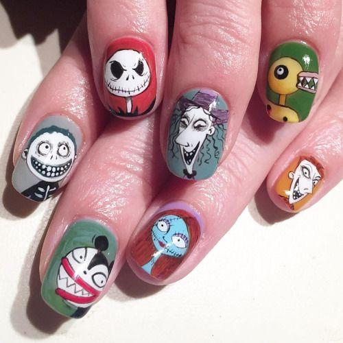 Halloween nails. #halloween #avarice #kayo #art #nails #nailart #design #nailart #nailsalon #nailsalonavarice #thenightmarebeforechristmas (NailSalon AVARICE)