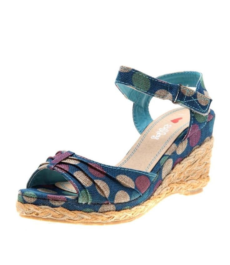 Cheerful & bright multi-coloured dot print, these lovely wedges are sure to brighten up your wardrobe. The mid height makes it perfect for day to day wear and muti coloured dots will team them up with a lot of your outfits- Heel height: 8.5 cm- Platf