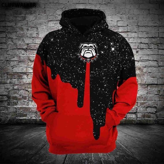 Georgia bulldogs Graphic Unisex Men Women 3D Printed Movie Hooded Sweatshirt  Pullover Hoodie Clothing 63a4cc0d6
