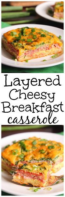 Layered Cheesy Breakfast Casserole